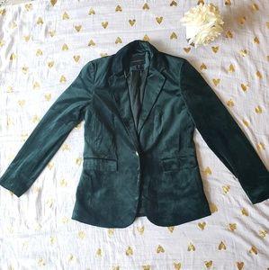 Adrienne Vittadini Green Velvet Blazer